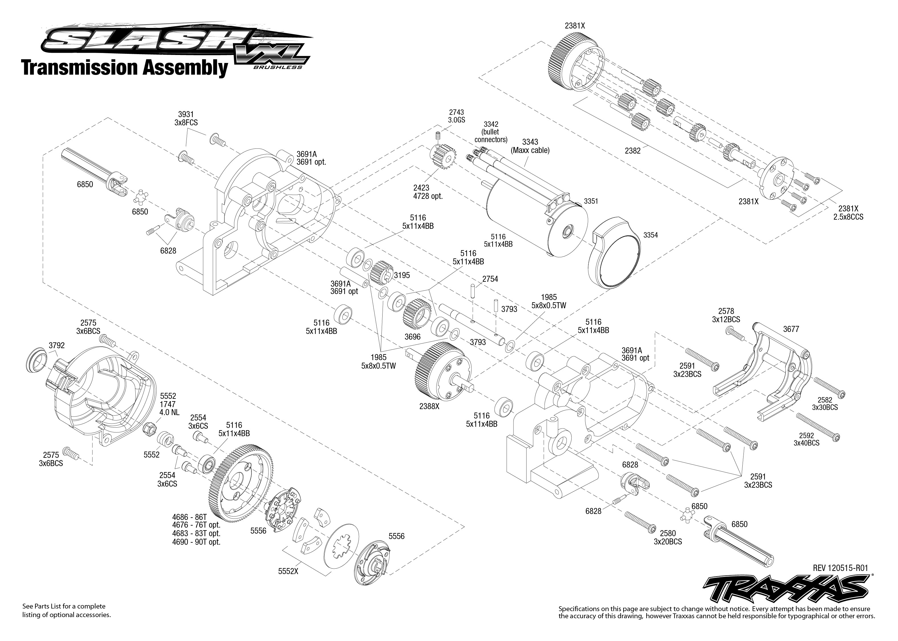 Traxxas 1 10 Scale Slash Vxl 2wd Brushless Short Course Truck