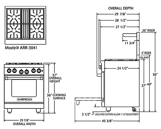 Kitchen Stove Dimensions Gallery