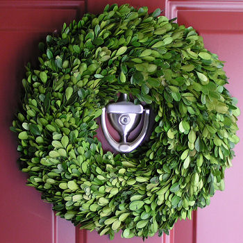 Preserved Boxwood Wreath: The door to my dining room would look great with this preserved boxwood wreath, and would compliment anyone wanting a Swedish touch for a room. I might even hang it from a freestanding wreath hanger on a hutch, buffet or mantle. At $39.00 this is a steal!