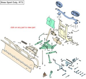 Boss RT3 Sport Duty Snow Plow Parts Diagram