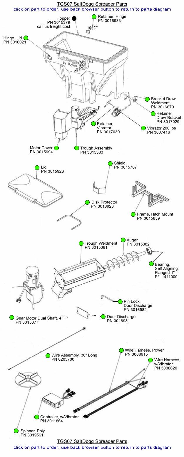 Buyers Saltdogg Tgs07 Parts Diagram Buyers Salt Spreaders