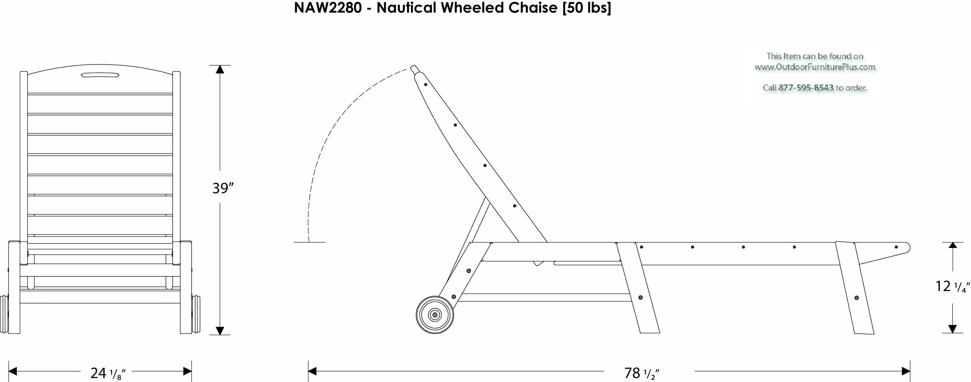 Polywood Nautical Armless Chaise
