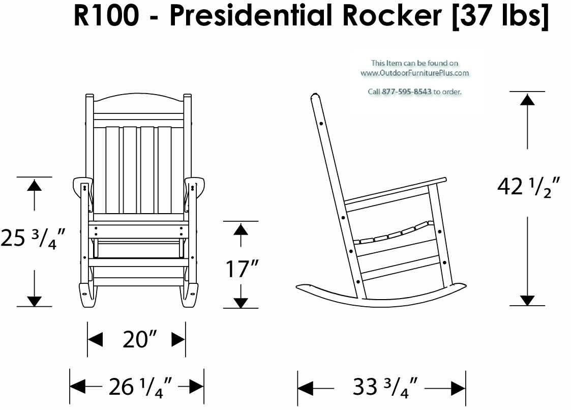 Polywood Presidential Rocking Chair 3 Piece Set
