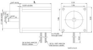 NEMA 23 Brushless DC Motor BLDC23F23
