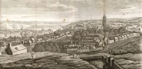 An engraving showing the city of Cork from Smith's Cork History