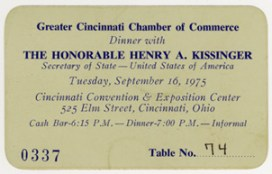 Invitation to Dinner with Kissinger