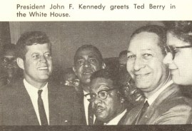 Ted Berry with John F. Kennedy
