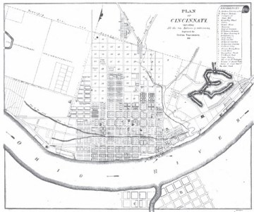 Map of Cincinnati 1819