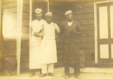 1925 - Theodore M. Berry with the Steel Brothers at Fort Scott Camp, sponsored by the Catholic Archdiocese of Southern Ohio.