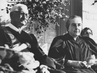 Dr. Sabin and Prime Minister Golda Meir