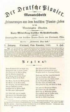 Der Deutsche Pionier Title Page