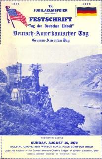 German-American Day program, 1970