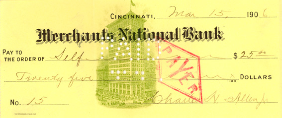 Check from 1906