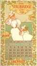 Strobridge Calendar Card August 1896