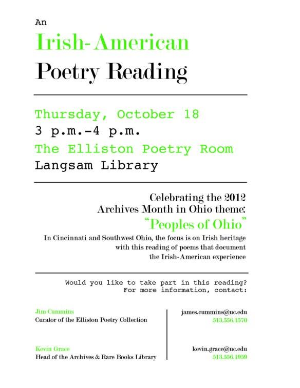Poetry Reading Flyer