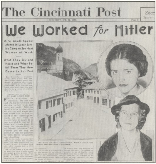 Article from the Cincinnati Post