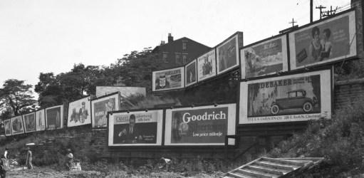 Billboards on a hillside