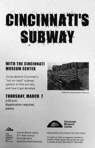 Cincinnati Museum Center Lecture