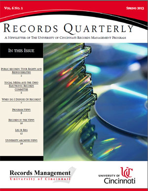 Records Quarterly Cover Spring 2013