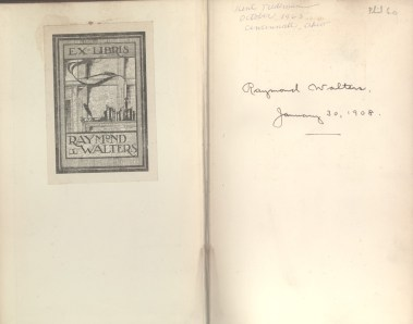 Book with Raymond Walters Bookplate