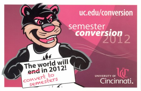 Semester Conversion Poster with Bearcat
