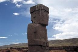 Sacred Statue in Tiwanaku - Bolivia