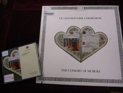 Recordings of the Le Chansonnier Cordiforme are available in the CCM Library