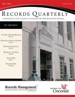 Spring 2014 Records Quarterly