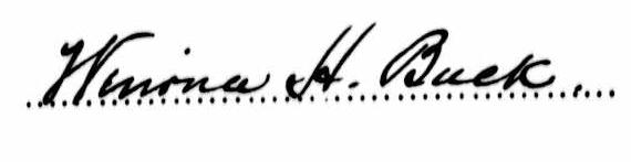 Winona Buck's signature