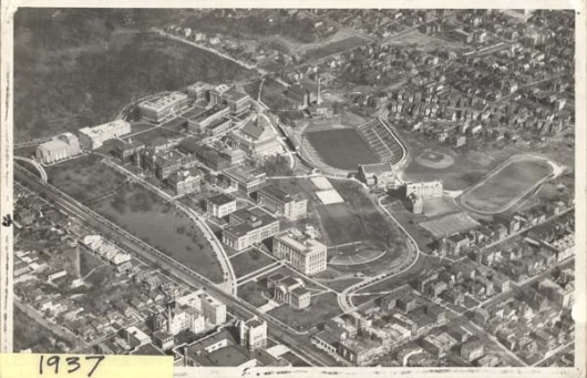 Aerial Photo of Campus, 1937