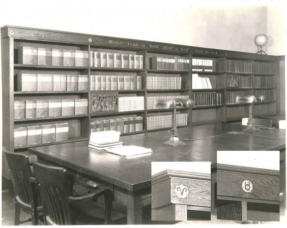 Charlotte Fischer Library Shelf