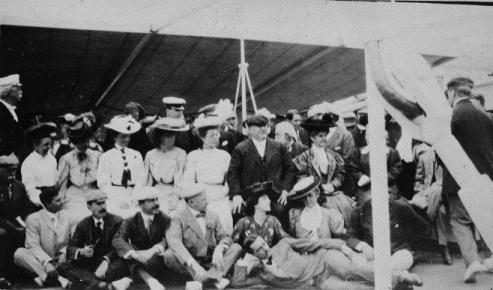 The Taft party on the transport ship Logan