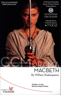 Program for Macbeth at CCM