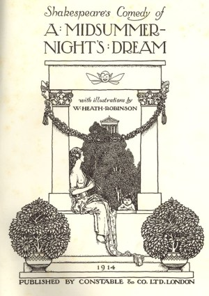 A Midsummer's Nights Dream Title Page