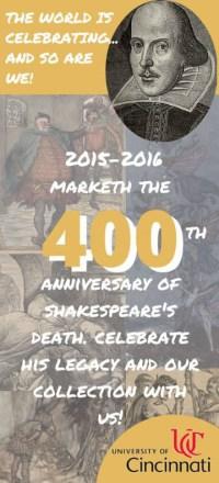 Shakespeare Celebration Bookmark