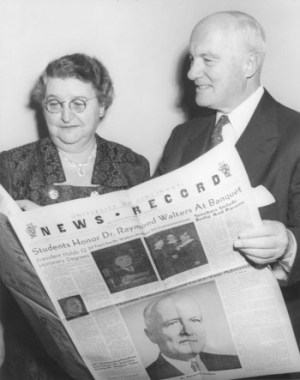 Raymond and Elsie Walters with News Record