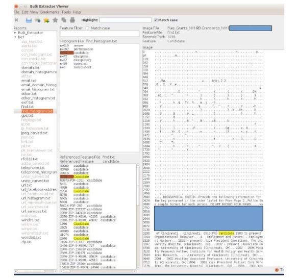 Reviewing Files - Bitcurator