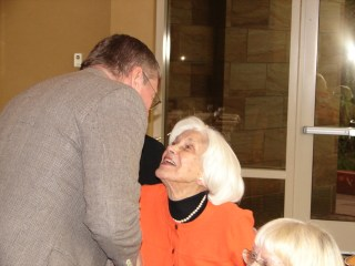 Heloisa Sabin greets visitors at the 50th Anniversary of Sabin Sundays in 2010. Courtesy of the Winkler Center for the History of the Health Professions, University of Cincinnati, Cincinnati, Ohio