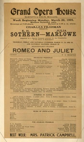 Romeo and Juliet Playbill