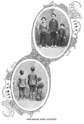 Three boys upon their arrival in the House of Refuge