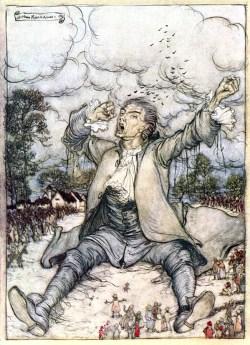 Gulliver's Travels, illustration by Rackham