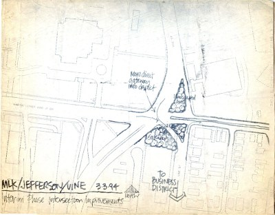 Martin Luther King Jr. and Vine Street Intersection