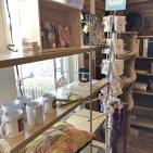 Bookshelf of bookish merchandise