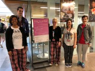 UCBA Library Staff and Faculty wearing pajamas for Wake Up And Read theme