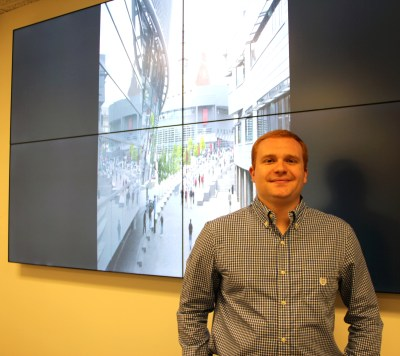 richard in front of visualization wall