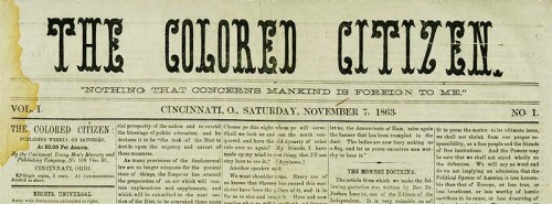 The Colored Citizen masthead