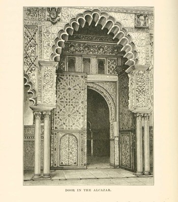 A door in the Alcazar Cathedral
