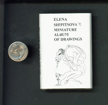 Cover of Elena Sipitsova's Miniature Album of Drawings
