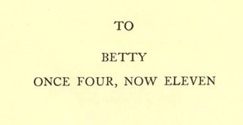Book Dedication to Betty