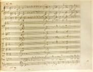 Mozart Magic Flute autograph aria page
